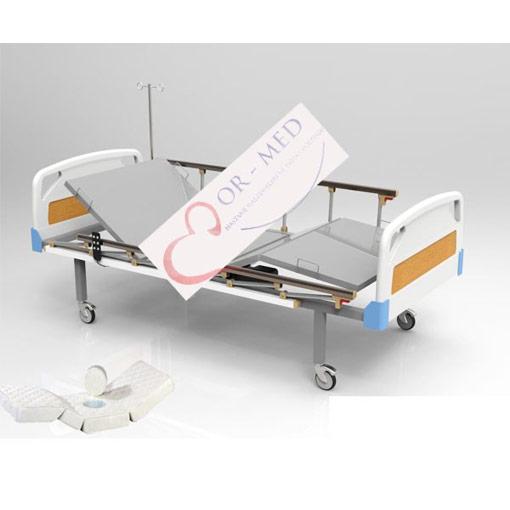 Elektrikli Lazımlıklı Hasta Karyolası ABS Başlık-Tabanca Korkuluklu