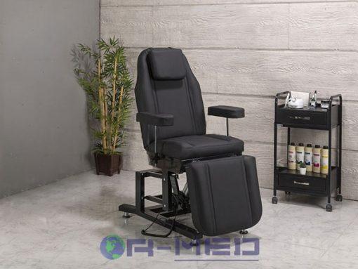 Cilt Bakım Koltuğu Siyah Renk ergonomisini yapısını yapısını destekleyen estetik